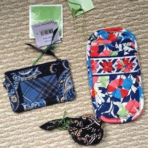 Vera Bradley ID purse, eyeglasses case, Belt case